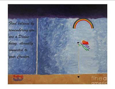 Painting - Remembering - Spiritual Art Poster With A Message by Pat Heydlauff