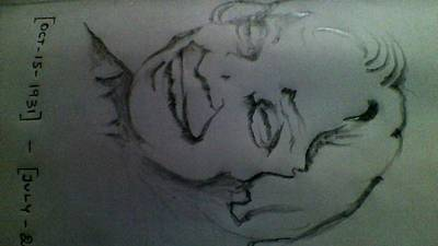 Kalam Painting - Remembrance Of Dr.a.p.j.abdul Kalam by P Yoga Nandhan