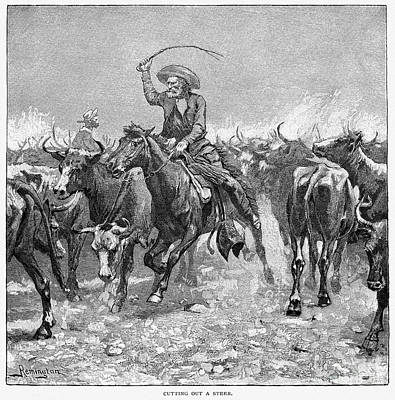Remington: Cowboys, 1888 Art Print by Granger