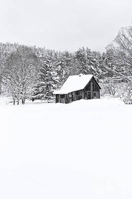 Photograph - Remote Cabin In Winter by Edward Fielding