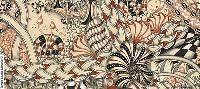 Wall Art - Drawing - Renaissance Tangle Art by Stefanie Van Leeuwen