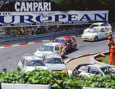 Photograph - Renault Clios At Monaco 1994 by John Bowers
