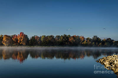 Photograph - Chilly Morning On Rend Lake by Andrea Silies