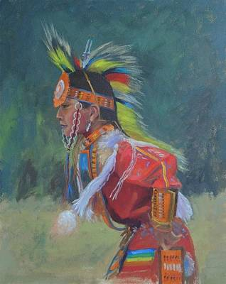 Painting - Rendezvous Dancer by Todd Derr