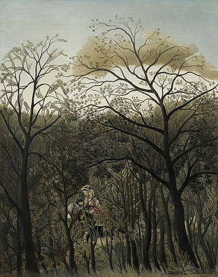 Painting - Rendezvous In The Forest  by Henri Rousseau