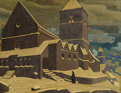Metaphor Painting - Repentance by Nicholas Roerich