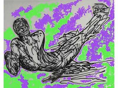 Digital Art - Resting by Erika Chamberlin