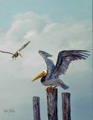 Painting - Resting Posts by Gary Partin
