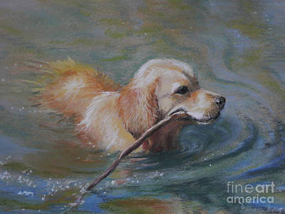 Painting - Retrieving by Pamela Pretty