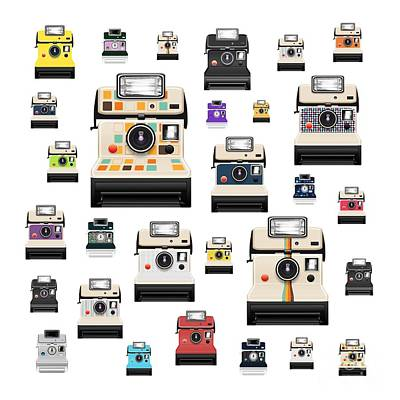 Retro Camera Art Print by Setsiri Silapasuwanchai
