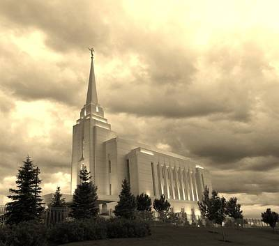 Photograph - Rexburg Lds Temple by Larry Campbell
