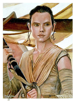Painting - Rey by Tom Carlton