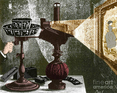 Invention Of Motion Photograph - Reynaud's Praxinoscope 1882 by Science Source