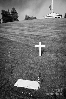 rfk robert francis kennedy grave with coins arlington cemetery Washington DC USA Art Print