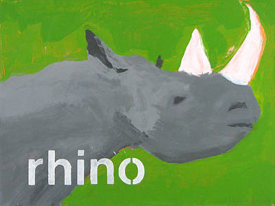 Rhinoceros Mixed Media - Rhinoceros by Laurie Breen