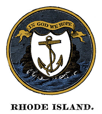 Photograph - Rhode Island State Seal by Granger