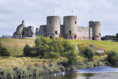 Castle Ruins Wall Art - Photograph - Rhuddlan Castle - Wales by Joana Kruse