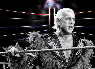 Pop Art Mixed Media - Ric Flair Wrestling Collection by Marvin Blaine