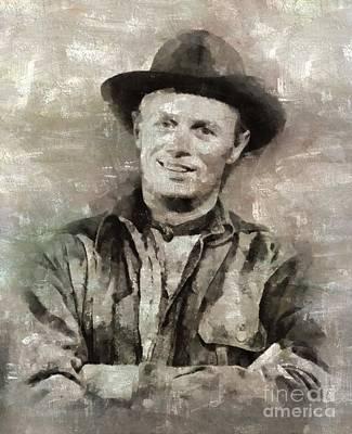 Richard Widmark Hollywood Actor Art Print by Mary Bassett