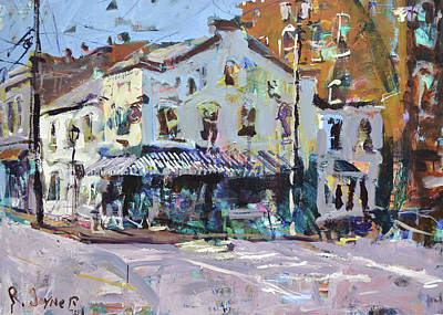 Mixed Media Painting - Richmond Cafe by Robert Joyner