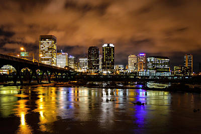Photograph - Richmond Skyline At Night by Aaron Dishner