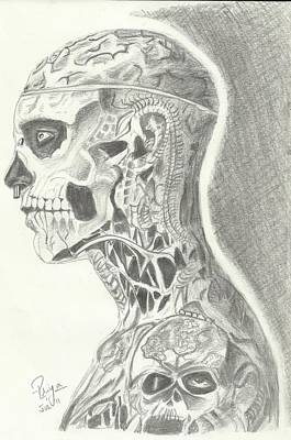 Rick Genest Art Print by Priya Paul