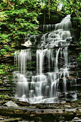 Photograph - Ricketts Glen Falls 023 by Scott McAllister
