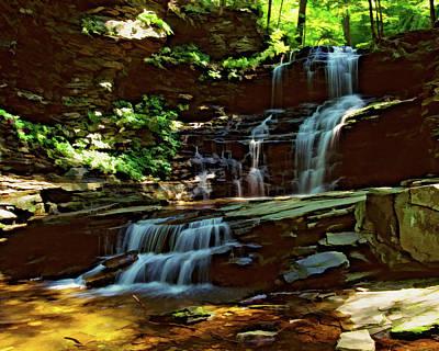 Photograph - Ricketts Glen Falls 031 by Scott McAllister