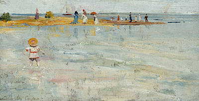 Australian Beach Painting - Ricketts Point, Beaumaris by Charles Conder