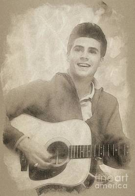 Musicians Drawings Rights Managed Images - Ricky Nelson, Music Legend by John Springfield Royalty-Free Image by John Springfield