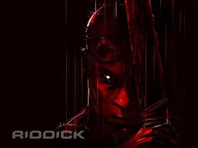 Fractal Digital Art - Riddick by Super Lovely