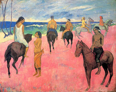 Shore Painting - Riders On The Beach by Paul Gauguin