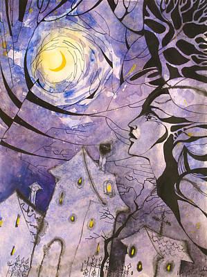 Concept Art Inks Drawing - Riga--the City Of Wizards by Valentina Plishchina