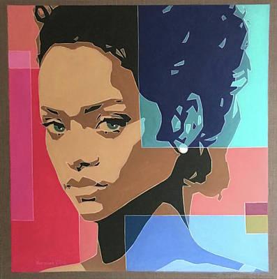 Painting - Rihanna by Varvara Stylidou