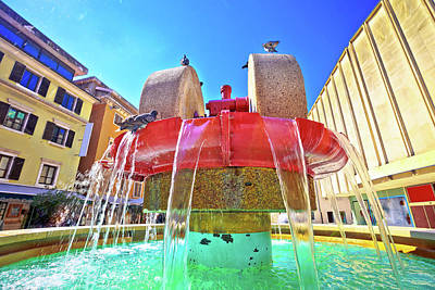 Photograph - Rijeka Square And Fountain View  by Brch Photography