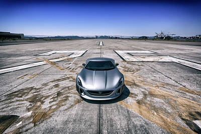 Photograph - #rimac #conceptone #print by ItzKirb Photography
