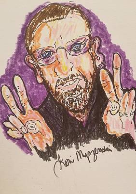 A Hand-thrown Drawing - Ringo Starr by Geraldine Myszenski
