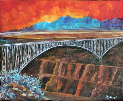 Grande Painting - Rio Grande Gorge Bridge by Judy Lybrand