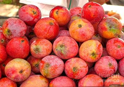 Photograph - Ripe Red Mangoes For Sale by Yali Shi