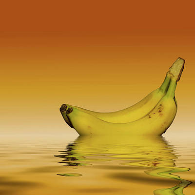 Ripe Yellow Bananas Art Print by David French
