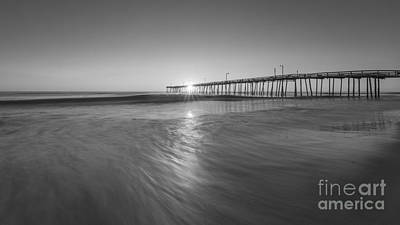 Rise And Shine At Nags Head Pier Art Print by Michael Ver Sprill