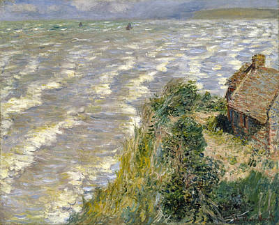 Seascape Painting - Rising Tide At Pourville by Claude Monet