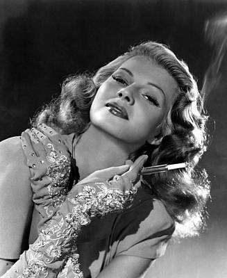 Opera Gloves Photograph - Rita Hayworth, Columbia Pictures, 1940s by Everett