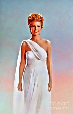 Kitchen Spices And Herbs - Rita Hayworth, Vintage Actress by Mary Bassett by Esoterica Art Agency