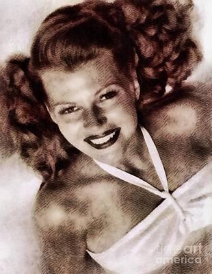 Rita Hayworth Painting - Rita Hayworth, Vintage Actress by John Springfield