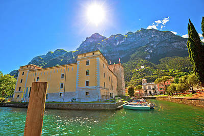 Photograph - Riva Del Garda Old Waterfront View by Brch Photography