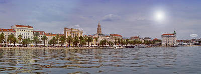 Photograph - Riva Waterfront, Houses And Cathedral Of Saint Domnius, Dujam, D by Elenarts - Elena Duvernay photo