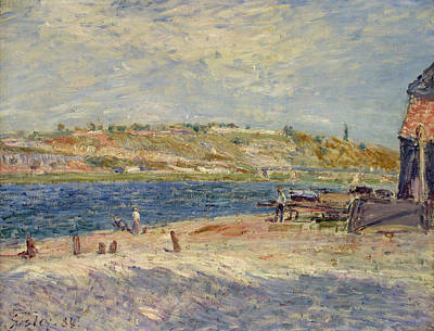 Impressionist Painting - River Banks At Saint-mammes by Alfred Sisley