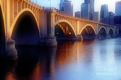 River Bridge II Art Print