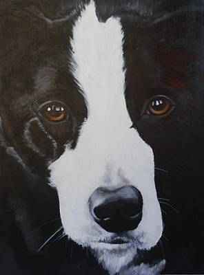 Dog Close-up Painting - River by Carol Russell